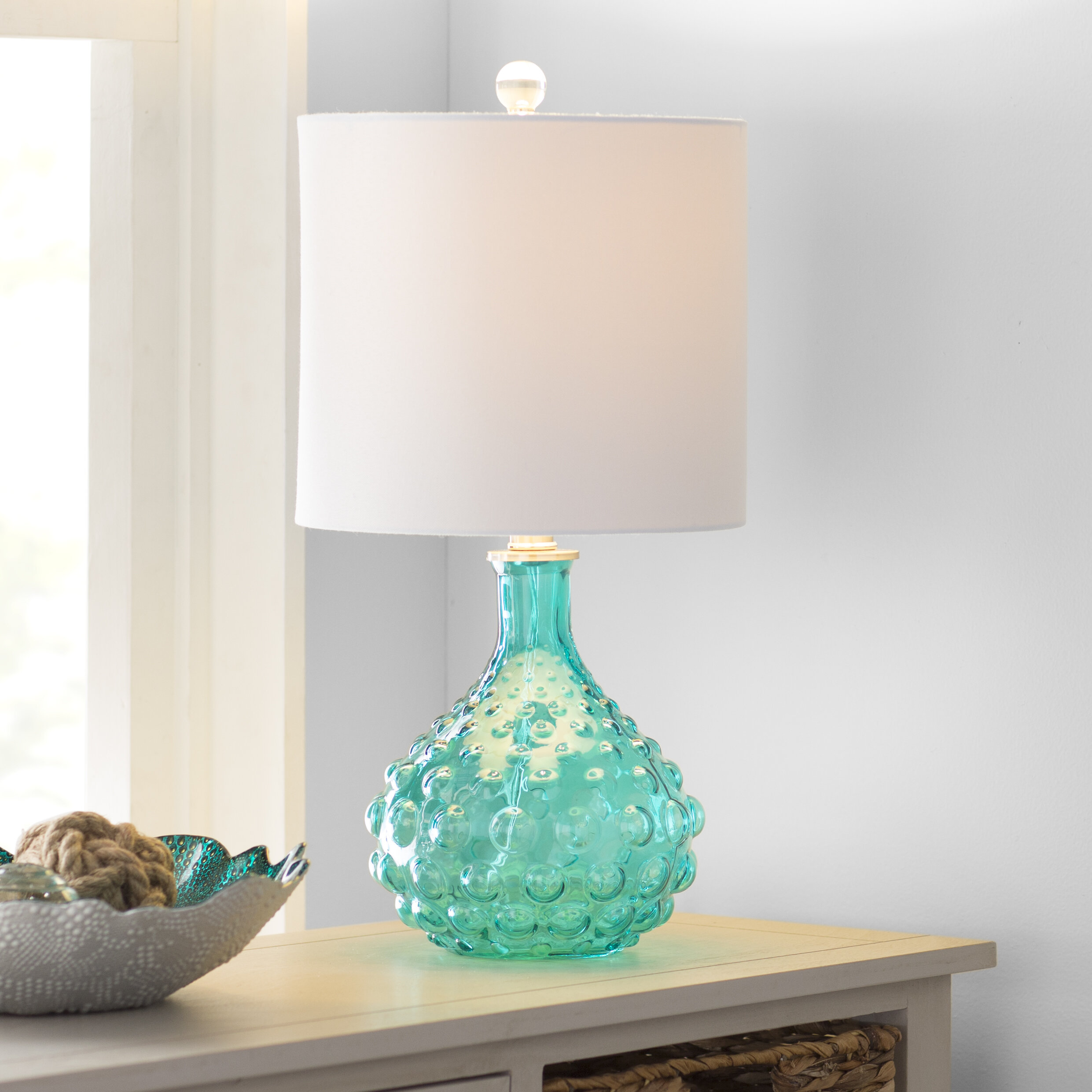 Highland Dunes O Shaughnessy Bubble Glass 20 Table Lamp Reviews