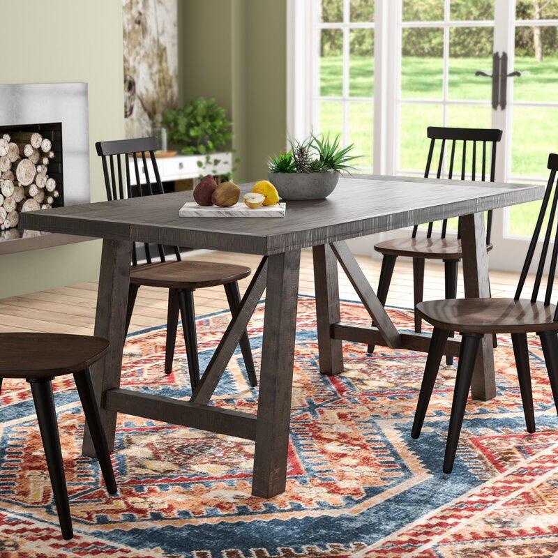 union rustic acklin dining table reviews wayfair