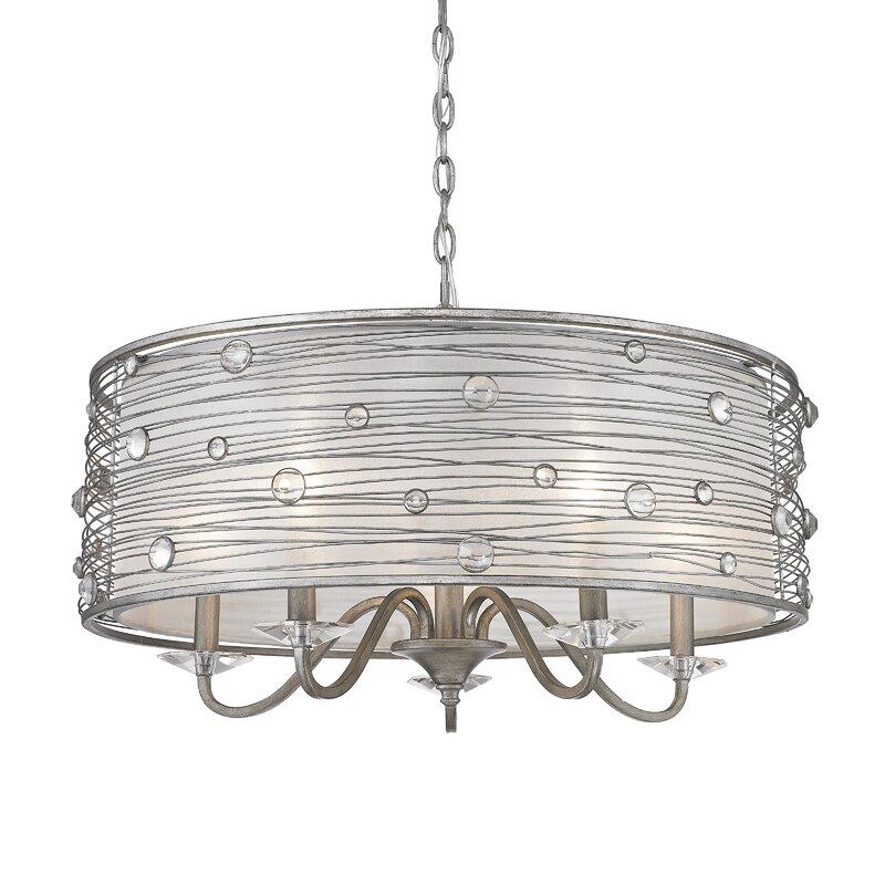 willa arlo interiors hermione 5 light chandelier reviews wayfair