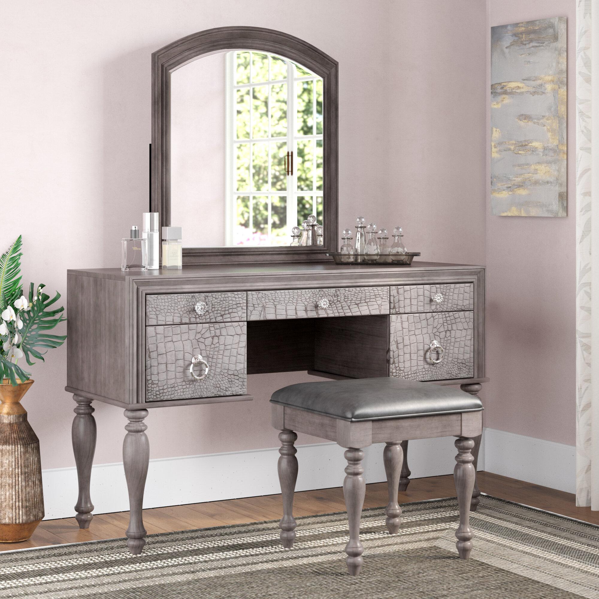 Vanity Set.Florine Vanity Set With Mirror