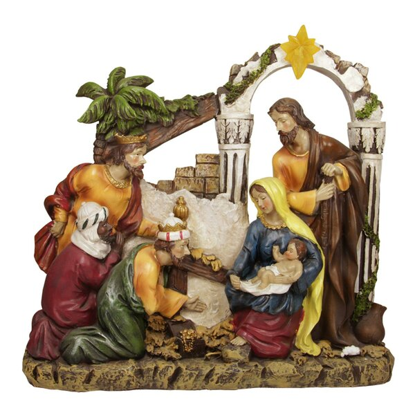 outdoor nativity sets youll love wayfair - Nativity Christmas Decorations