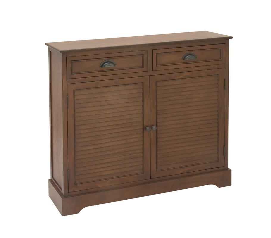 Cole Grey 2 Door 2 Drawer Wood Accent Cabinet Reviews Wayfair