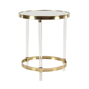 Superb Vogel Modern Round Iron And Acrylic End Table