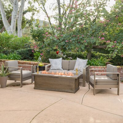 Fire Pit Sets Metal Patio Conversation Sets You Ll Love In