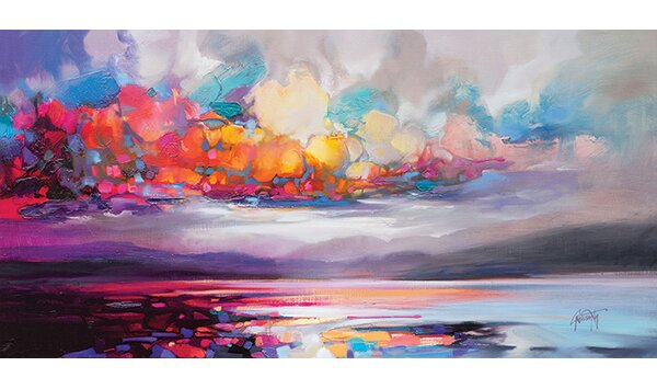 Wayfair Table Lamps >> Caracella 'Stratocumulus' by Scott Naismith Painting Print ...