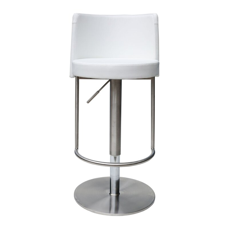 Bromi Design Bowery Adjustable Height Swivel Bar Stool