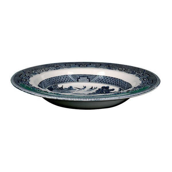 Johnson Brothers Clic Willoe Blue Rim Soup Pasta Bowl Reviews Wayfair
