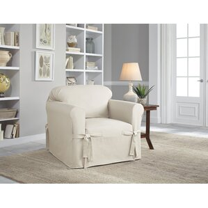 Serta Cotton Duck Box Cushion Armchair Slipcover
