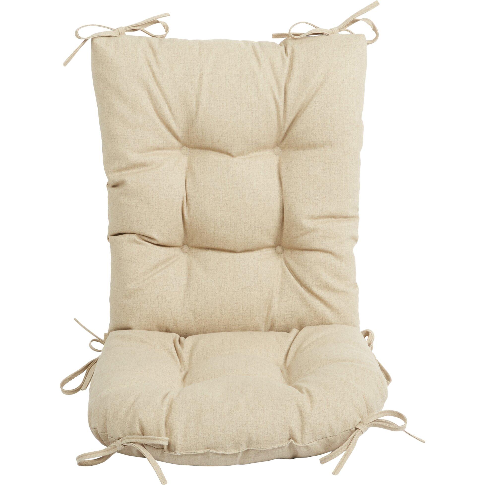Wayfair Basics Wayfair Basics Outdoor 2 Piece Rocking Chair Cushion Set