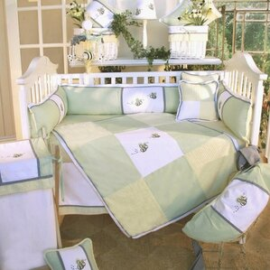 flutter bees 3 piece crib bedding set