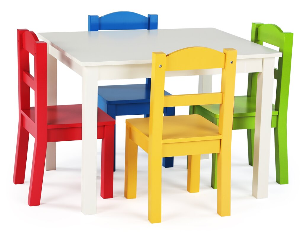 Samira Kids\u0027 5 Piece Rectangular Table and Chair Set  sc 1 st  Wayfair & Tot Tutors Samira Kids\u0027 5 Piece Rectangular Table and Chair Set ...
