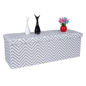 Folding Chevron Storage Ottoman by Songmics
