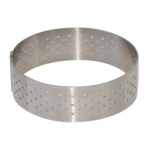Straight Edge Perforated Stainless Steel Tart Ring