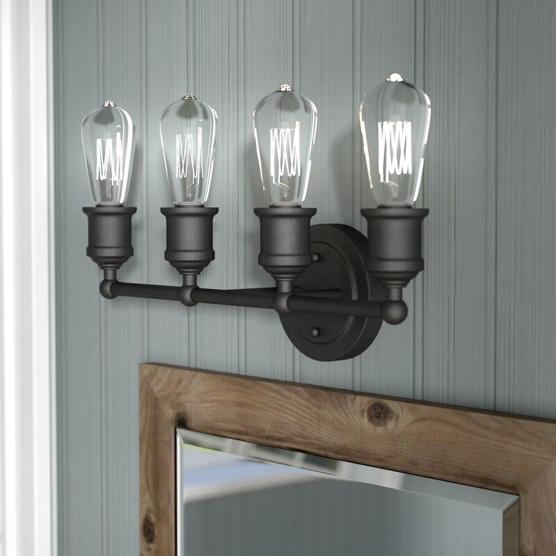 Laurel Foundry Modern Farmhouse Mara 4 Light Vanity Light