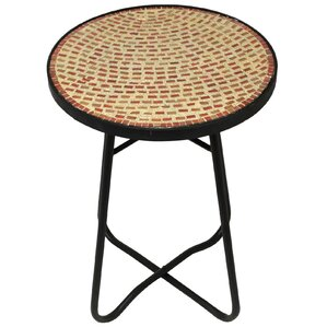Brick Mosaic End Table by ..