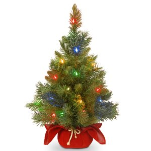 Majestic Spruce Cloth Bag Tree with 35 Battery Operated LED Light