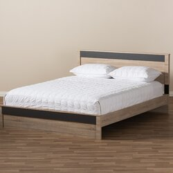 Queen Platform Bed Frames ivy bronx kirree queen platform bed & reviews | wayfair