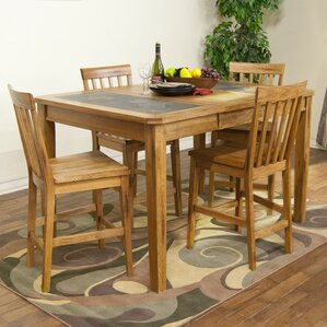 Fresno 5 Piece Dining Set by Loon Peak