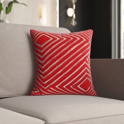 Mercury Row Keese Cotton Pillow Cover Size: 18 H x 18 W x 1 D, Color: Brown/Orange