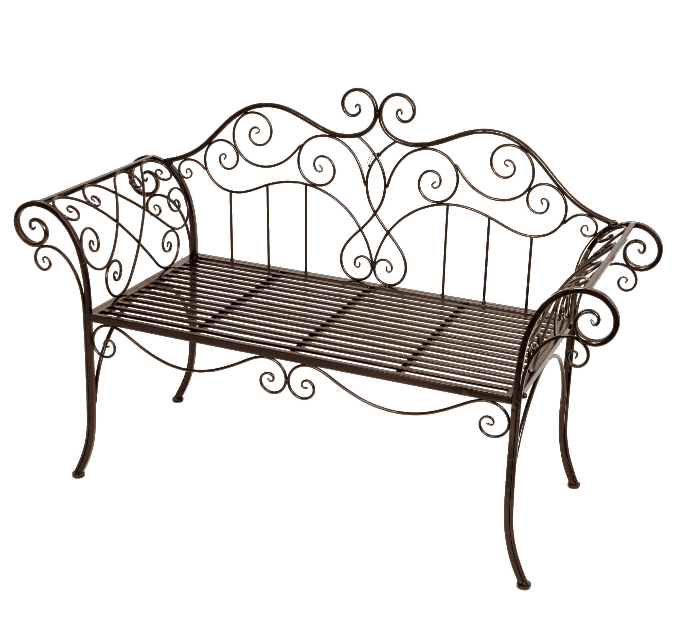 Viva La France 2 Seater Steel Garden Bench
