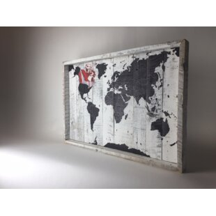 Maps framed art youll love wayfair world map canada framed graphic art print on wood gumiabroncs Choice Image