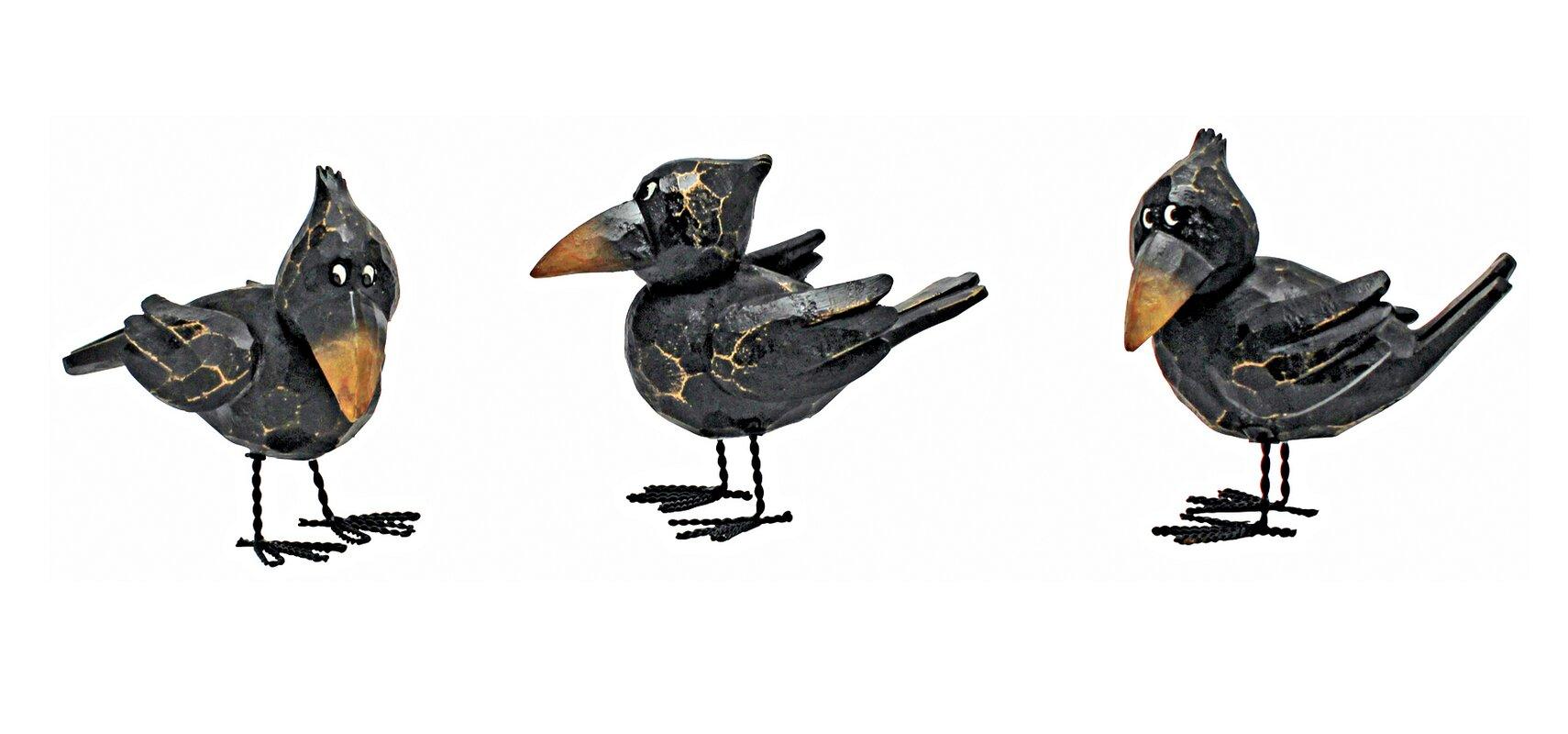 design toscano 3 piece myths and legends raven statue set