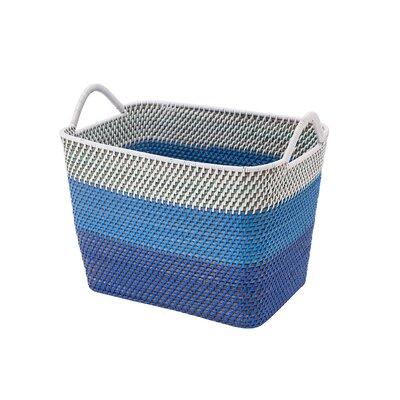 Amazing Cresthaven Rectangular Rattan Storage Basket With Ear Handles