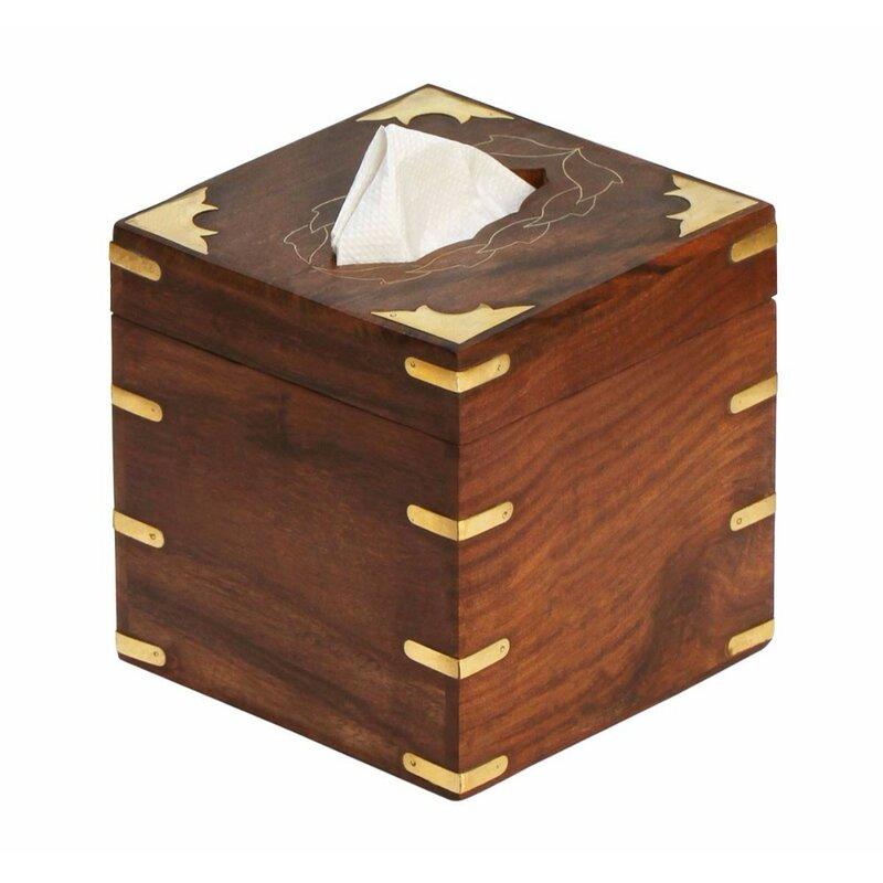 Barleria Wood Kleenex Tissue Box Cover