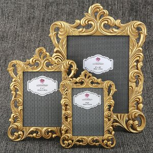 Venice 3 Piece Baroque Openwork Picture Frame Set