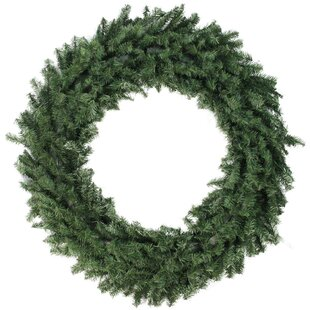 Canadian 48 Pine Artificial Christmas Wreath With Unlit