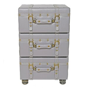 3 Drawer Trunk Accent Cabinet