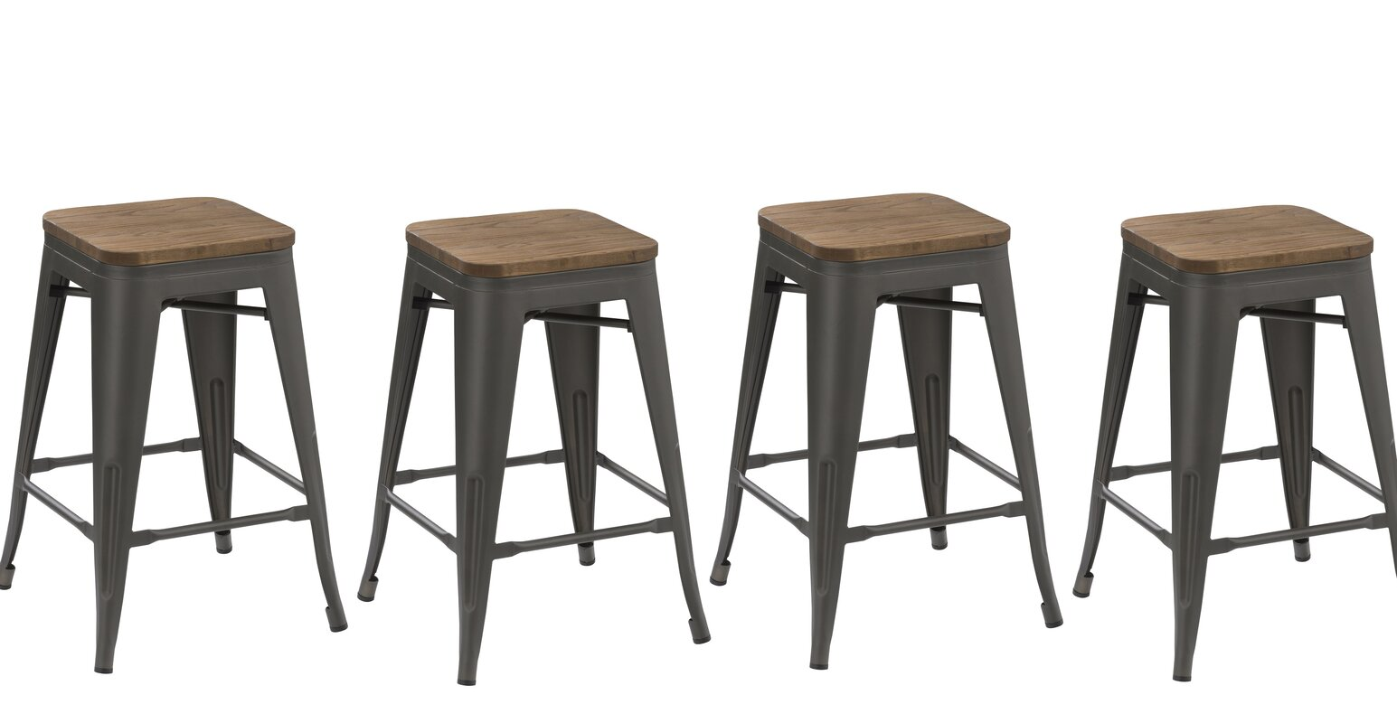 "FamisCorp 30"" Stackable Bar Stool & Reviews 