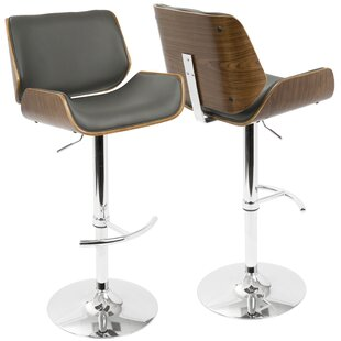 Burney Adjustable Height Swivel Bar Stool