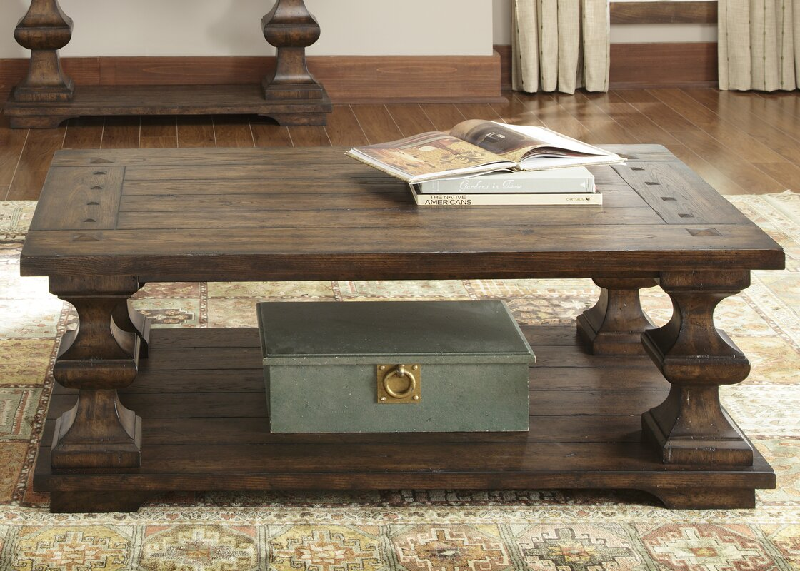 Farmhouse rustic coffee tables birch lane cravens coffee table geotapseo Image collections