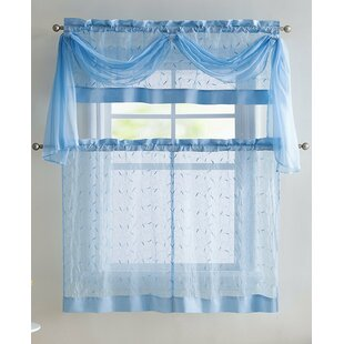 Sheer Kitchen Curtains | Wayfair