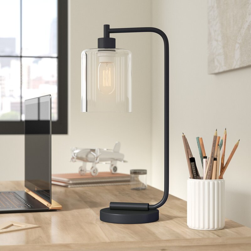 Trent austin design keystone iron lantern desk lamp for Wayfair industrial lamp