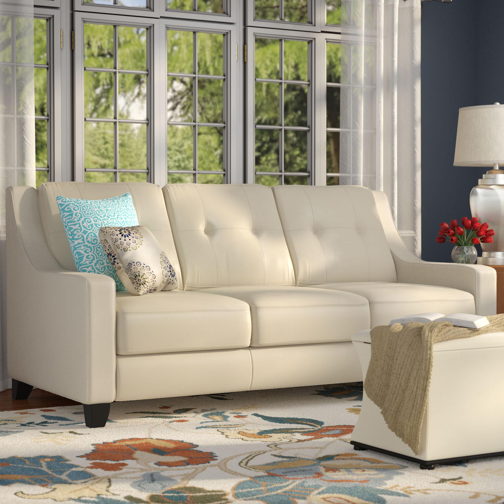 Red Barrel Studio Stouffer Leather Sofa Sleeper & Reviews | Wayfair