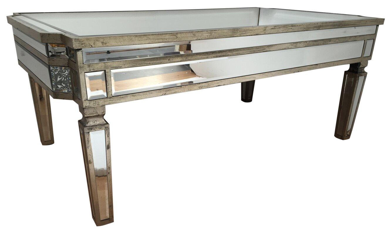 Vintage Mirrored Coffee Table