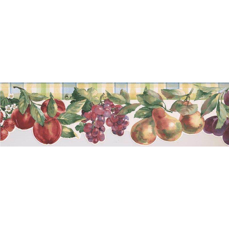15u0027 L X 6.75u0027u0027 W Faux Paint Apple Pear Grapes Plum Strawberry Kitchen