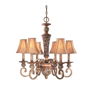 Minka lavery chandeliers youll love wayfair salon grand 6 light shaded chandelier by minka lavery mozeypictures Image collections