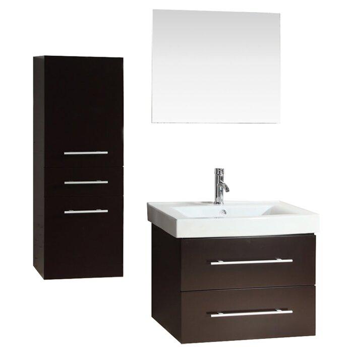 Kokols 28 Single Bathroom Vanity Set With Mirror Reviews Wayfair