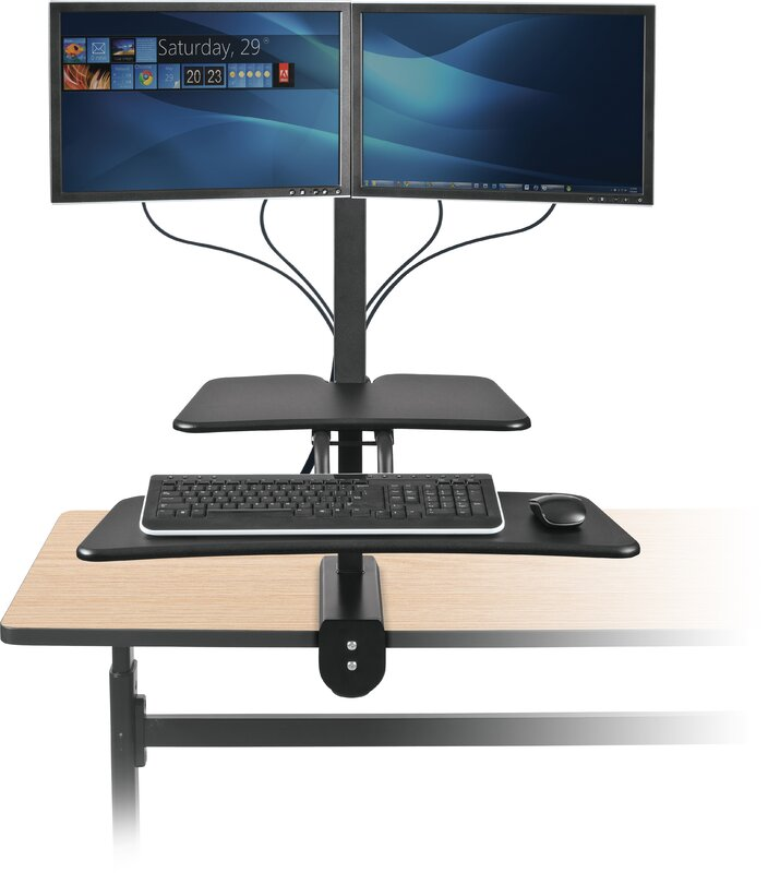 Balt Up Rite Desk With Mounted Sit Stand Height Adjustable
