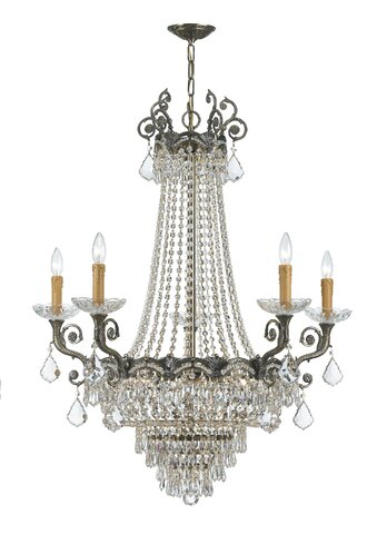 Chandelier styles guide wayfair characterized by ornate detailing such as scrolling and filigree and fine materials traditional chandeliers add formality to a room aloadofball Choice Image