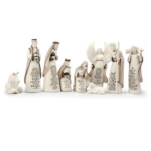 9 Piece A Child Is Born Nativity Set