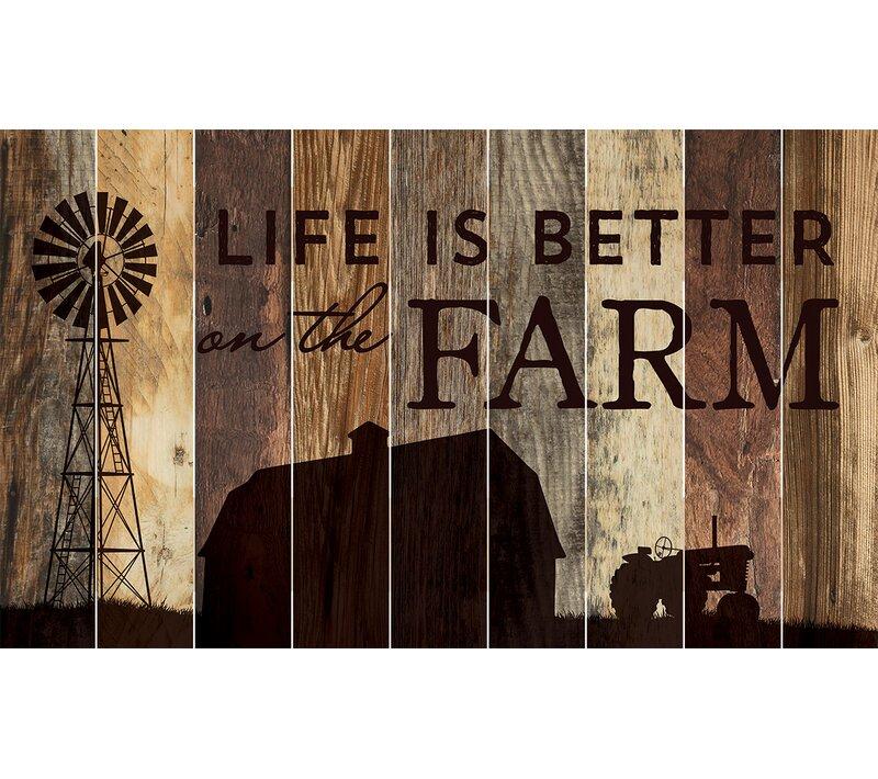 Barn Board Life Is Better On The Farm Wall Décor