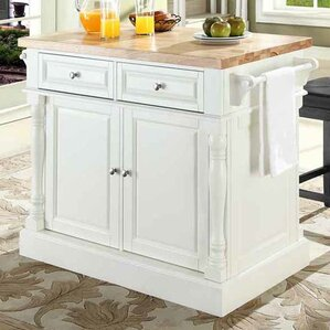 Kitchen Island 36 X 60 butcher block island & counter tops you'll love | wayfair
