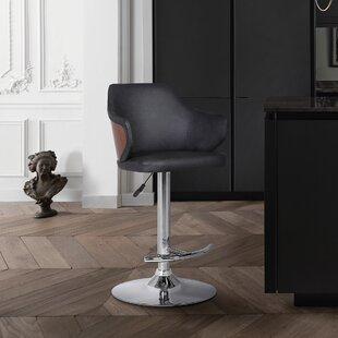 Adelbert Adjustable Height Swivel Bar Stool