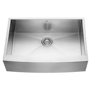 VIGO Alma 33 inch Farmhouse Apron 16 Gauge Stainless Steel Kitchen Sink