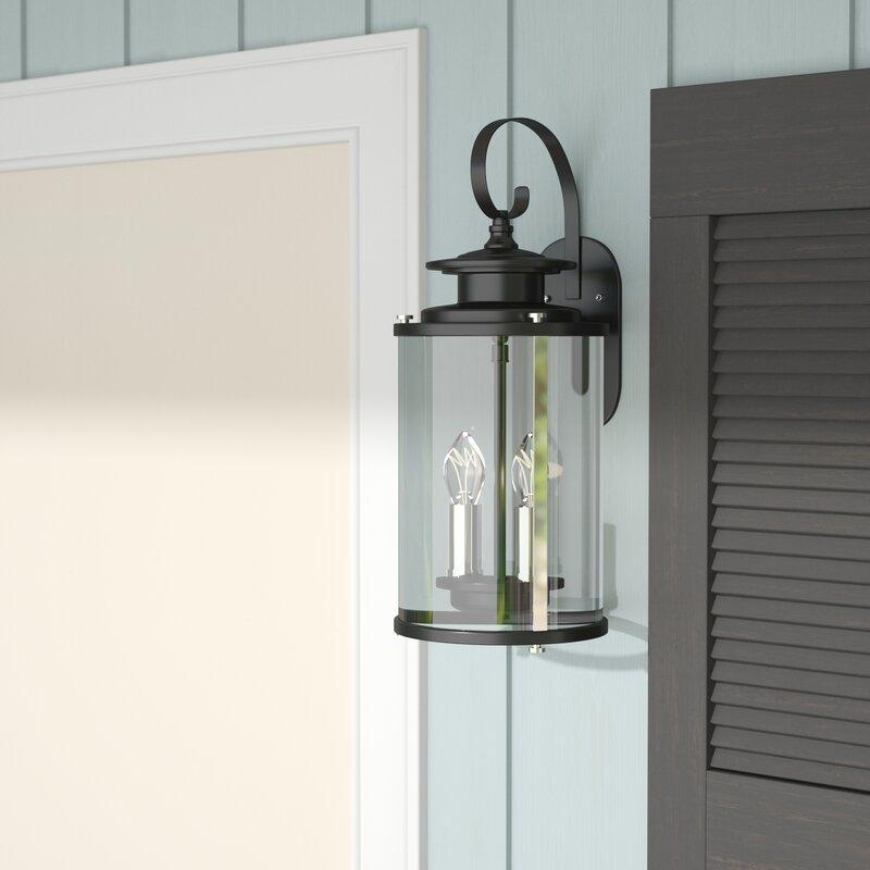 17 Stories Evgenia 2 Light Outdoor Wall Lantern Reviews Wayfair