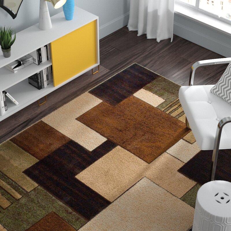 Zipcode Design Nolan Brown/Green Area Rug & Reviews